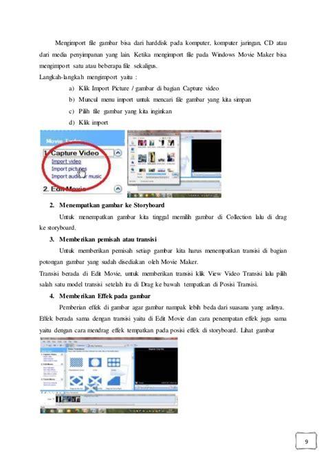 modul membuat storyboard modul membuat video album dengan wmm