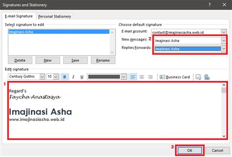 Membuat Signature Html | cara membuat signature di microsoft outlook imajinasi asha