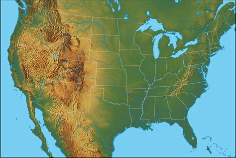 physical features of the united states map physical map of the united states united states of