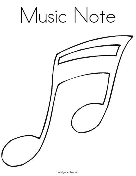 coloring pages with music notes music note coloring page twisty noodle