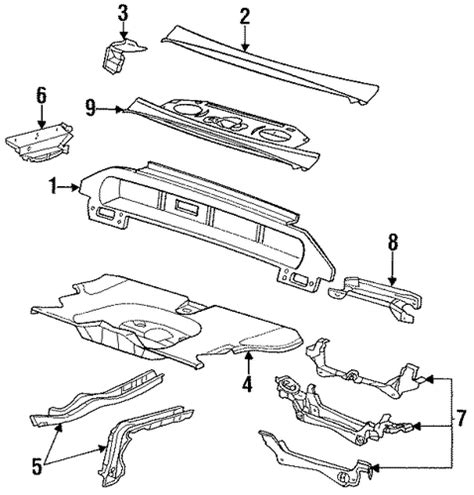 rear body floor parts for 1996 buick lesabre