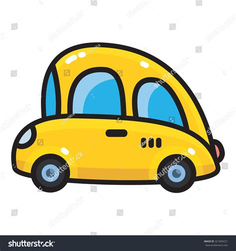 funny small cars retro small car icon funny vintage stock vector 321849221