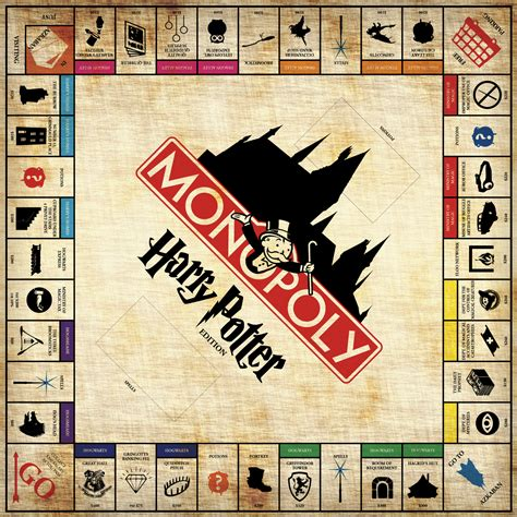 harry potter printable board games harry potter monopoly this guy full on created the game