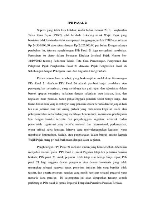 Pajak Penghasilan Pemotongan Pemungutan contoh penghitungan pemotongan pemungutan pph pasal 22 dan