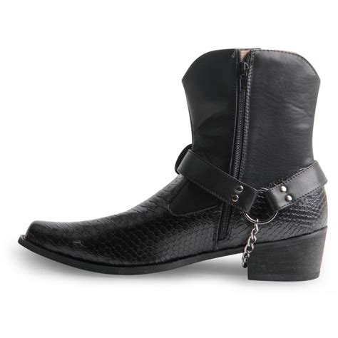 mens ankle cowboy boots mens gents cowboy boots western snake skin ankle