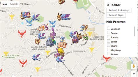 maps go ポケモンgo pok 233 mon go でどこにポケモンが出るのかという地図が複数登場 利用は不正行為になる可能性も gigazine