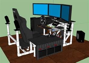 Diy Gaming Desk Sim Rig Gaming Desk My Diy Racing Rig Project
