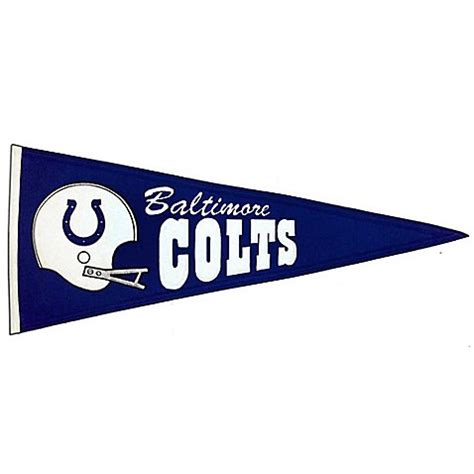 bed bath and beyond baltimore nfl baltimore colts throwback pennant bed bath beyond