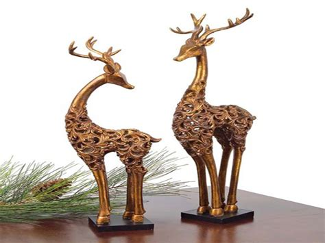 decorative table accents christmas reindeer figurines