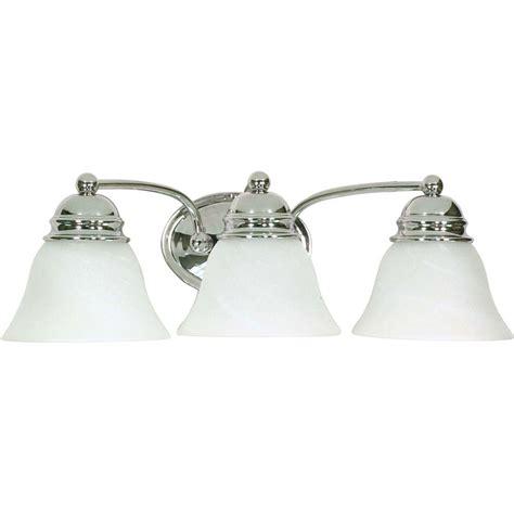 gallego 3 light glass shade vanity light glomar 3 light polished chrome vanity light with alabaster
