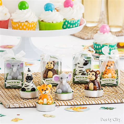 Jungle Theme Baby Shower Favors by Jungle Animals Candle Favors Idea City