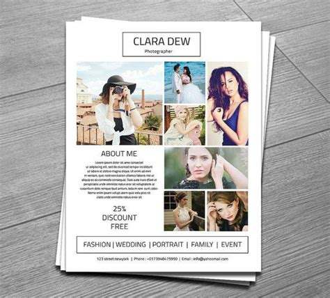 flyer templates for photoshop elements photography flyer template marketing template for