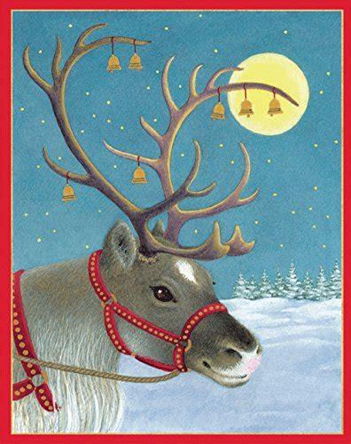 Caspari Boxed Cards - entertaining with caspari reindeer portrait