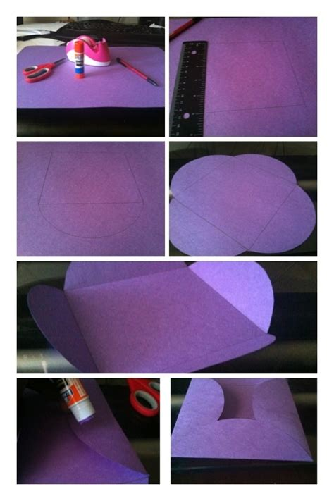 How To Make An Envelope Out Of Construction Paper - steps to make a square envelope out of construction paper