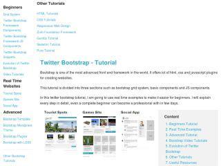 tutorial bootstrap twitter pdf twitter bootstrap tutorials web development tutorials