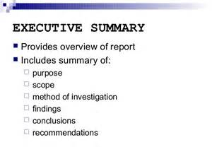Section Report Template report writing executive summary and other sections