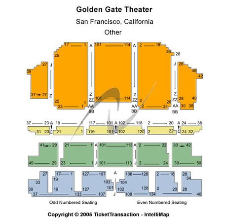 golden gate theater seating golden gate theatre tickets in san francisco california