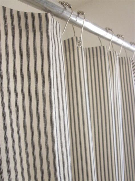 nautical stripe curtains nautical ticking stripe grommeted shower curtain by modern