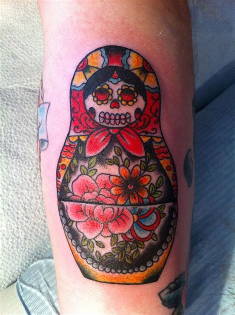 matryoshka doll tattoo 101 best matryoshka sugar skull images on