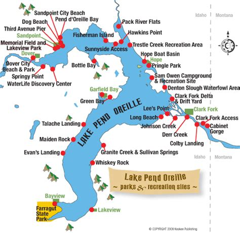 pend oreille river boat launch map lake pend oreille idaho parks and public access