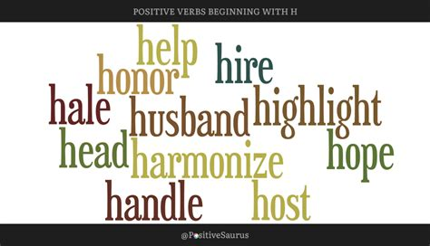 positive verbs  start   letter  action words