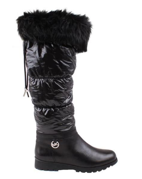 michael kors snow boots michael by michael kors snow womens black leather