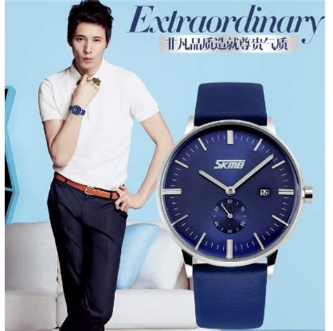Skmei Casual Leather Water Resistant 30m 1168cl Bl 1 skmei jam tangan analog pria 9083cl blue