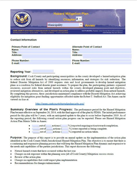 Annual Security Report Template