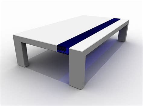 Elegant Dining Room futuristic corian tables by stuart melrose