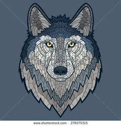 mosaic wolf pattern 1000 images about mosiac on pinterest wolves mosaics
