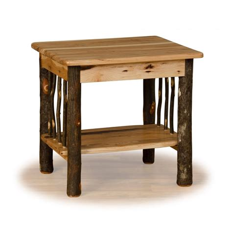 Rustic End Tables Rustic Hickory Log End Table Hickory Oak Or All Hickory Furniture Barn Usa