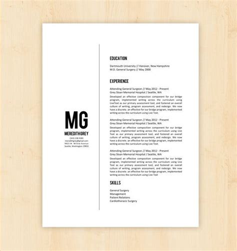 simple resume docx resume template cv template the meredith grey resume