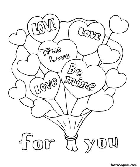 christian coloring pages for valentines day printable valentine bouquet coloring page color