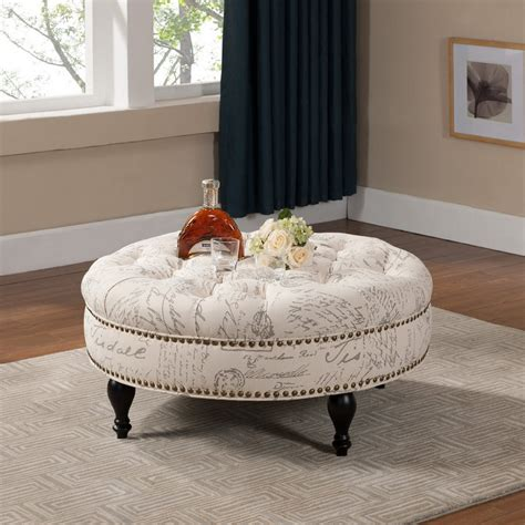 round upholstered ottoman coffee table round upholstered ottoman coffee table upholstered