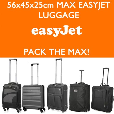 easyjet cabin baggage sizes easyjet 56x45x25 max large cabin carry luggage