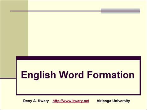 patterns of english word formation english word formation презентация онлайн