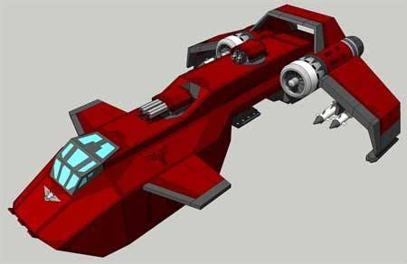 warhammer 40k stormraven gunship papercraft concept