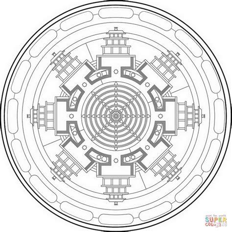 tibetan mandala coloring page free printable coloring pages