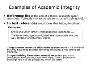Reference List The Sources Used At The End Of The Essay by Ppt Academic Integrity Uw Powerpoint Presentation Id 3986103