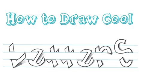 how to draw doodle lettering how to draw cool 3d letters wrapped around and