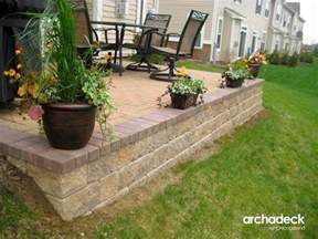 Paver Patio With Retaining Wall Belgard Paver Patio With Retaining Wall In Il Traditional Patio Chicago By