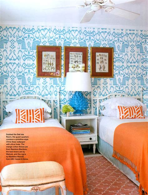 blue and orange bedroom orange blue decor