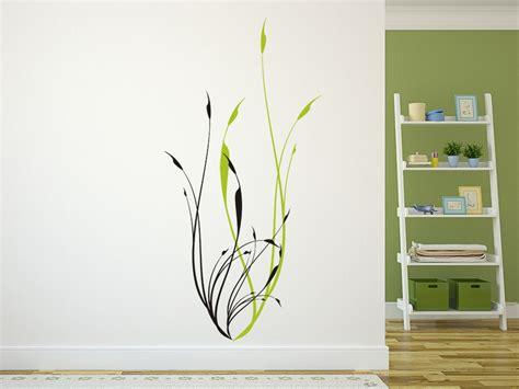Gras An Die Wand Malen by Wandtattoo Abstraktes Gr 228 Ser Dekor Bei Homesticker De