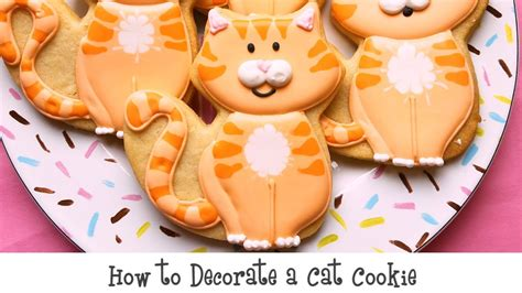 how to decorate series finding how to decorate a cat cookie