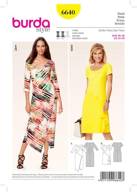 patterns free burda burda 6640 misses dress