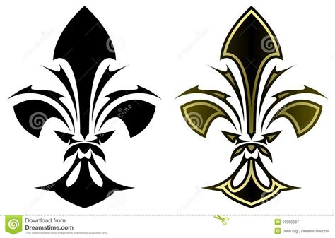 fleur de lys tattoo stock vector image of symbol french