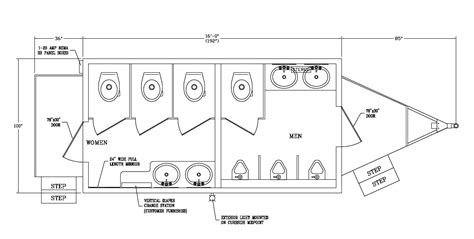 standard size of comfort room the comfort station luxury bathroom trailer on site co