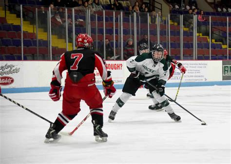 Puffer Hocker by Reeths Puffer Hockey Team Gives Up Six Answered Goals