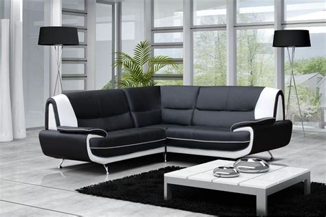 canape cuir blanc et gris canap 233 moderne simili cuir r 233 versible gris noir