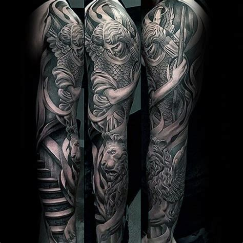 angel tattoo designs for men sleeves 60 sleeve designs for masculine ideas